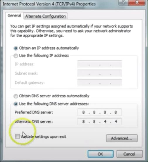 DNS Address Configuration