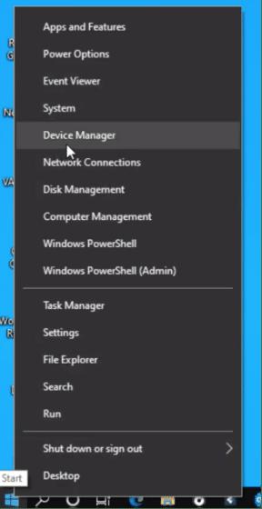 Device manager - Start Menu Windows