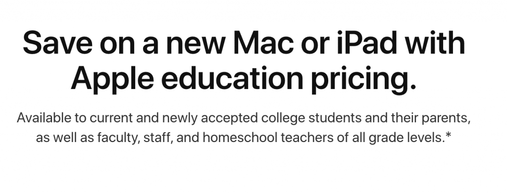 Apple Discount for College Students