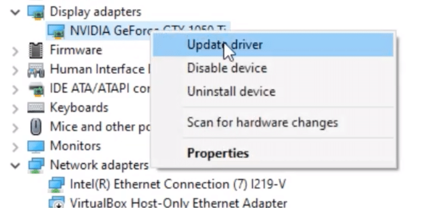 Update Driver Windows Video TDR Failure Blue Screen