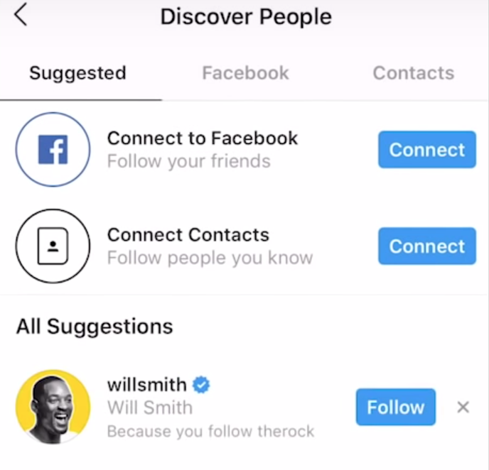 Discover people Instagram feature for beginners