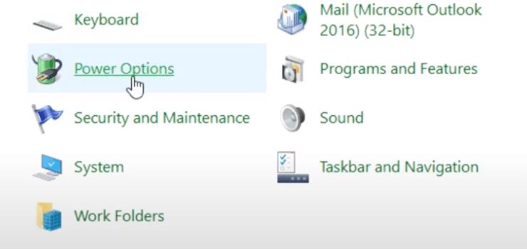 Windows Power Options