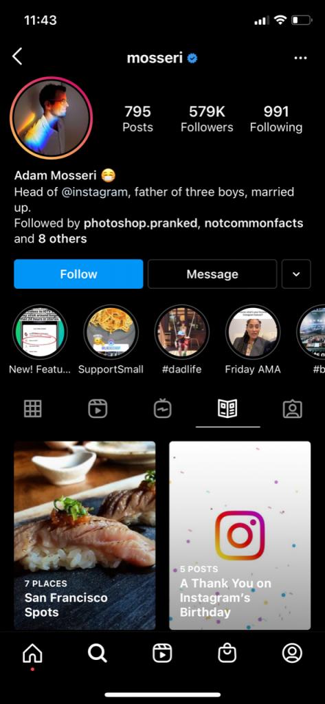 Adam Mosseri Instagram Guide Example