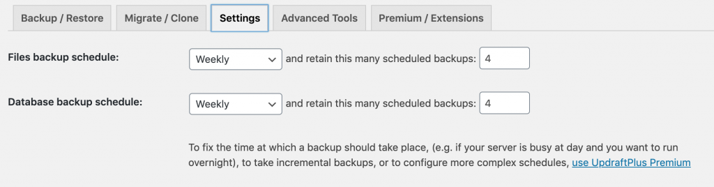 Automatically backup wordpress site for free