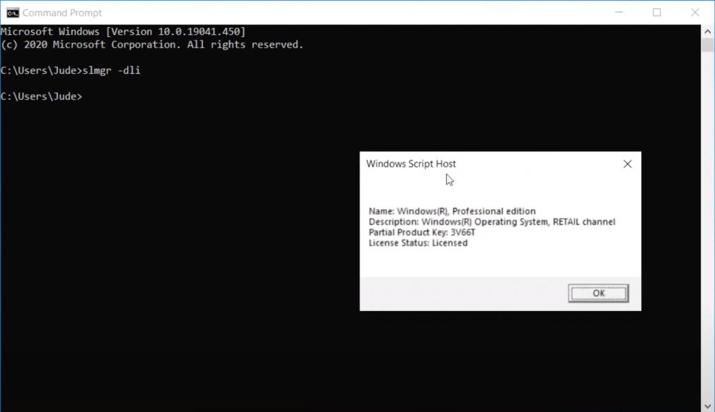 Check Windows License