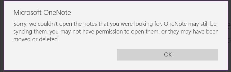 Microsoft OneNote Not Working